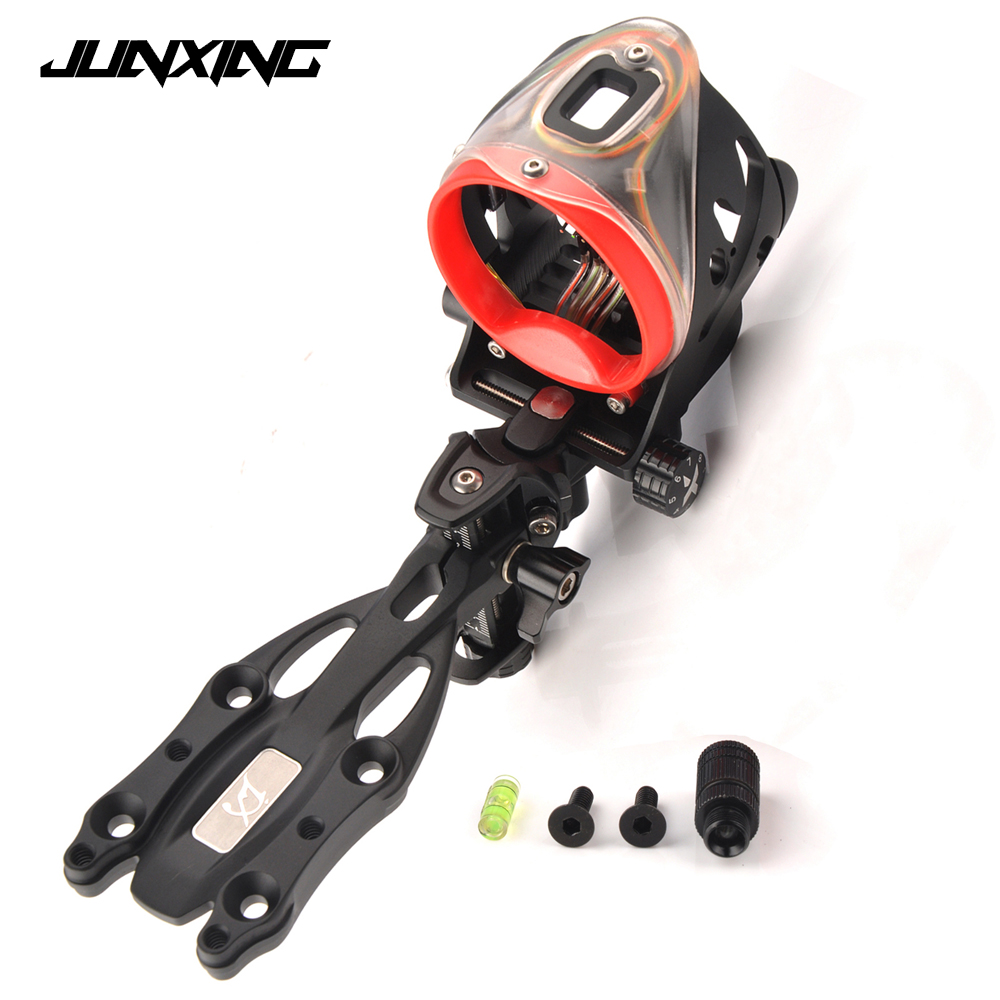 Archery Junxing 5550 Bow Sight Kits Accessory Tools Compound Bow Accessories Adjustable Sight Left and Right Hand Universal archery bow blue light led sight black 3 x l736