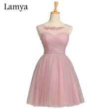 5 Colors Customized Cheap Pink Short Chiffion Bridesmaid Dresses 2019 Plus Size Crystal White Formal Dress Vestidos De Novia