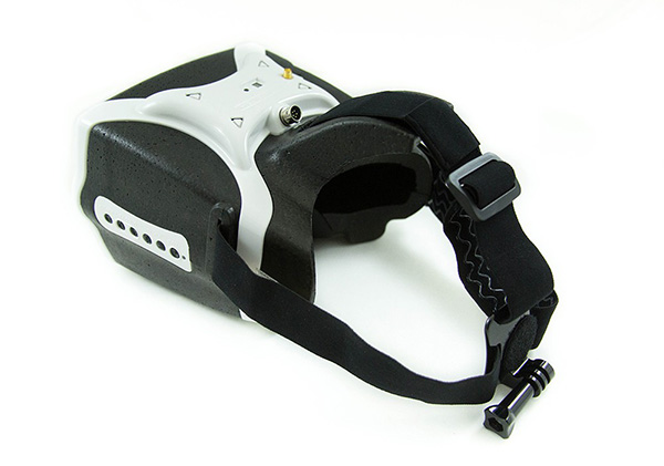 Headplay 1280 x 800 5.8G 40CH Receiver FPV GOGGLE / Video Glasses Support HDMI Input -White/Red Color
