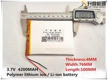 3.7 V bateria 4200 mah tablet tablet da marca gm tablet bateria 4076100