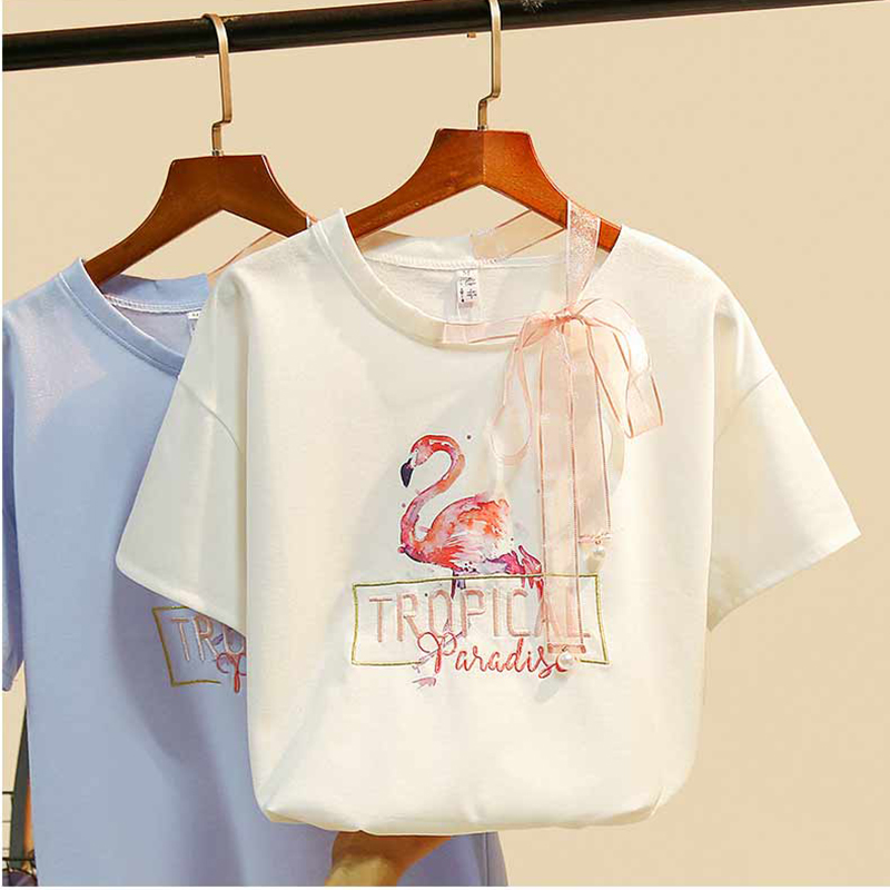 Embroidery Tshirt Women T Shirt Summer Tops For Women 2019 Funny T Shirts Cotton Sexy T-shirt Tee Shirt Femme Camisetas Mujer