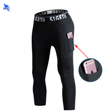 Trousers Leggings Compression-Pocket Running-Tights Fitness-Training Sport Men's Gym