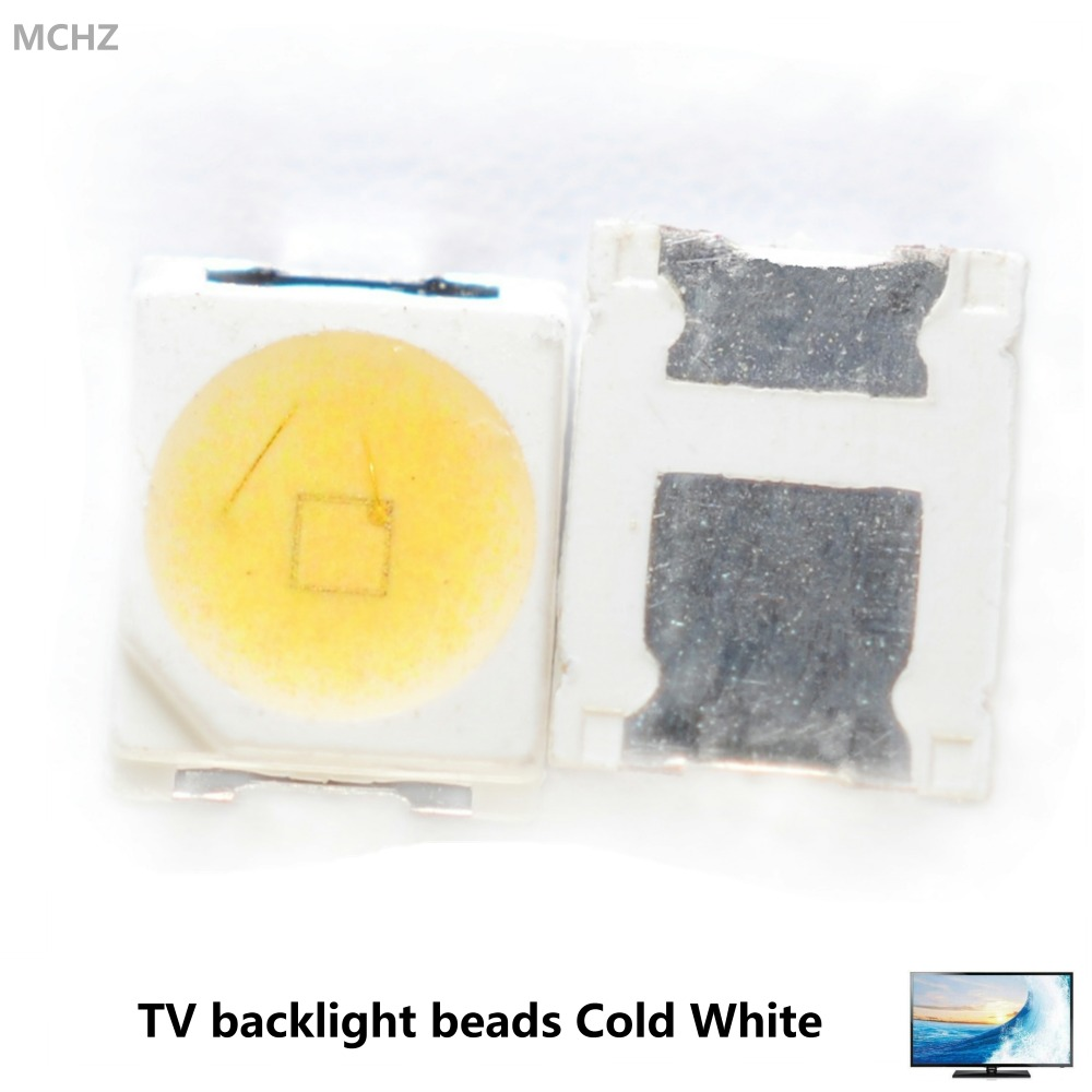 1000pcs Replace <font><b>lg</b></font> jufei High Power <font><b>LED</b></font> 1W 3V-3.6V 1210 3528 tv <font><b>2835</b></font> 92LM TV backlight beads 300MA 350MA Cold and white image