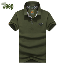 2017 new arrival spring AFS JEEP fashion classic men's polo shirt solid color short-sleeved cotton regular polo shirt 50
