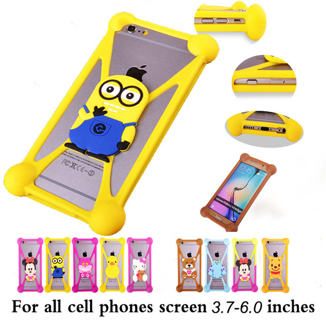 for Highscreen boost 2 se 3 pro Cover Case Highscreen omega prime s Capas 3D Cute Cartoon Minions Soft Silicone Animal Back Case