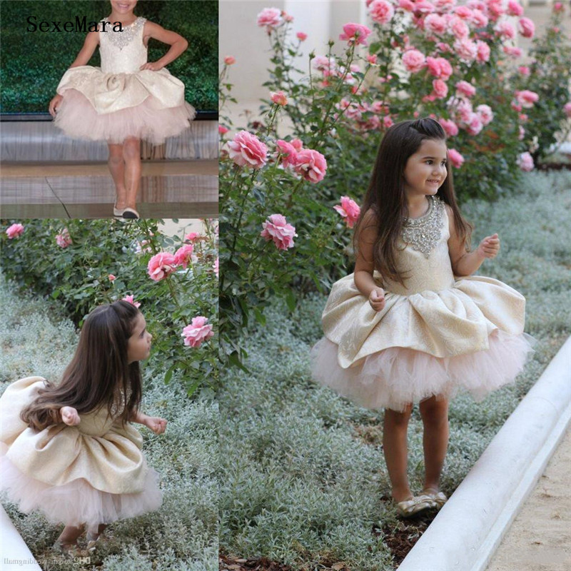 Baby Girls Pageant Dresses Puffy Tulle And Lace Kids Girl Birthday Party Christmas Communion Gown Beads Flower Girl DessBaby Girls Pageant Dresses Puffy Tulle And Lace Kids Girl Birthday Party Christmas Communion Gown Beads Flower Girl Dess