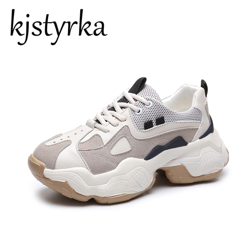 2019 style Korean Model Wedges heel lace-up girls Mesh Breathable informal sneakers woman Leisure Sneakers Ourdoor zapatos de mujer Ladies's Pumps, Low-cost Ladies's Pumps, 2019 style Korean Model Wedges...