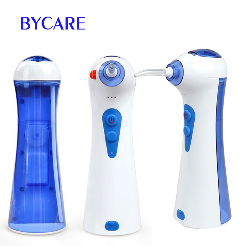 BYCARE USB charging rechargeable oral irrigator and water flosser for teeth cleaner pro teeth whitening oral irrigator electric teeth cleaning machine irrigador dental water flosser teeth care tools m2