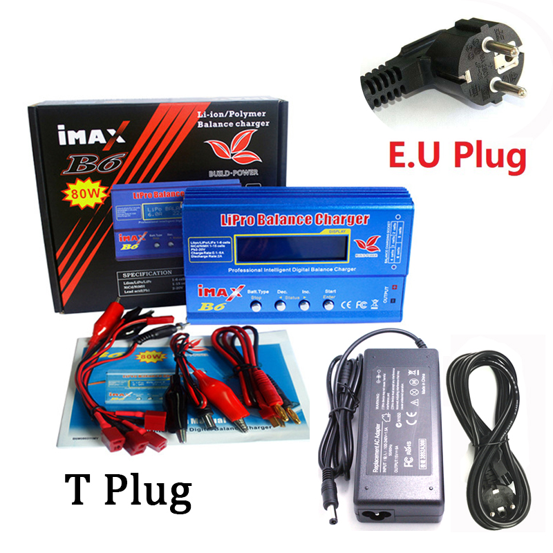 IMAX B6 80W Lipo Battery Charger Lipro Balance Charger iMAX B6 charger Balance Charger Turnigy For RC Helicopter 12v 6A adapter