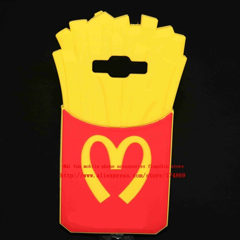 Case For Samsung Galaxy For Samsung Galaxy A5 E5 J5 A7 E7 J7 potato chips French fries silicone protector Guard Cover
