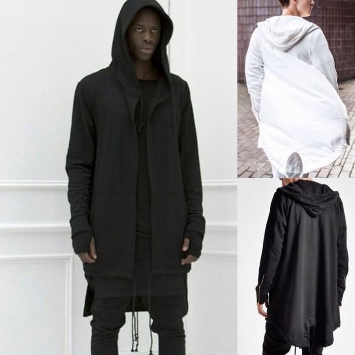 HTB1KpF4dq5s3KVjSZFNq6AD3FXaw Newly Men Hooded Gown Hip Hop Mantle Coat Hoodies Loose Sweatshirts Long Sleeves Cloak Autumn Winter Outwear DOD886