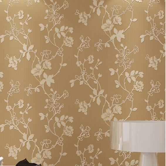 Embroidery 3D Modern Flower Mural Wallpaper Embossed Texture Purplebrown Romant Floral Living Room In Wallpapers From Home Improvement