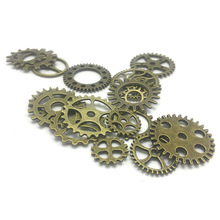 50pcs Retro Bronze Punk Mechanical Gear Creative Decorative
