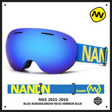 Shipping free brand ski goggles shortsightedness anti-fog UV400 man ski eyewear esqui outdoor sports women snow snowboard goggle