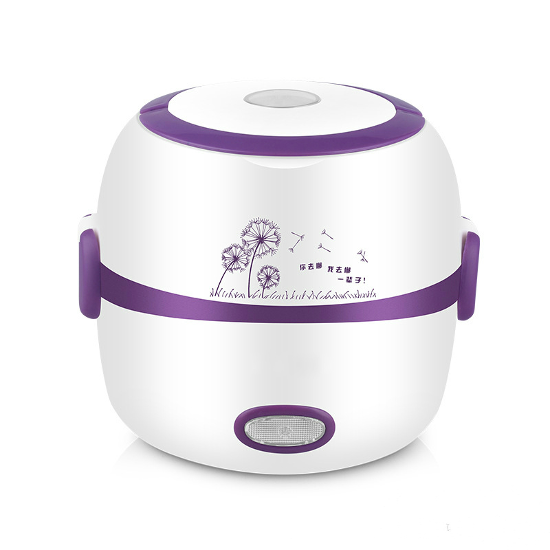 Mini Rice Cooker Portable Electric Heating Lunch Box Multi-function Food Warmer 2 Layers Egg Food Steamer Food Container EU multi function electric lunch box stainless steel tank household pluggable electric heating insulation lunch box