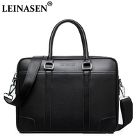 LEINASEN Brand 2018 High Quality Laptop Handbags Fashion Business Men Briefcase Pu Leather Male Briefcase Casual