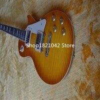 Wholesale Custom Shop 1959 R9 Tiger Flame Electric Guitar Standard LP 59 Electric Guitar HOT