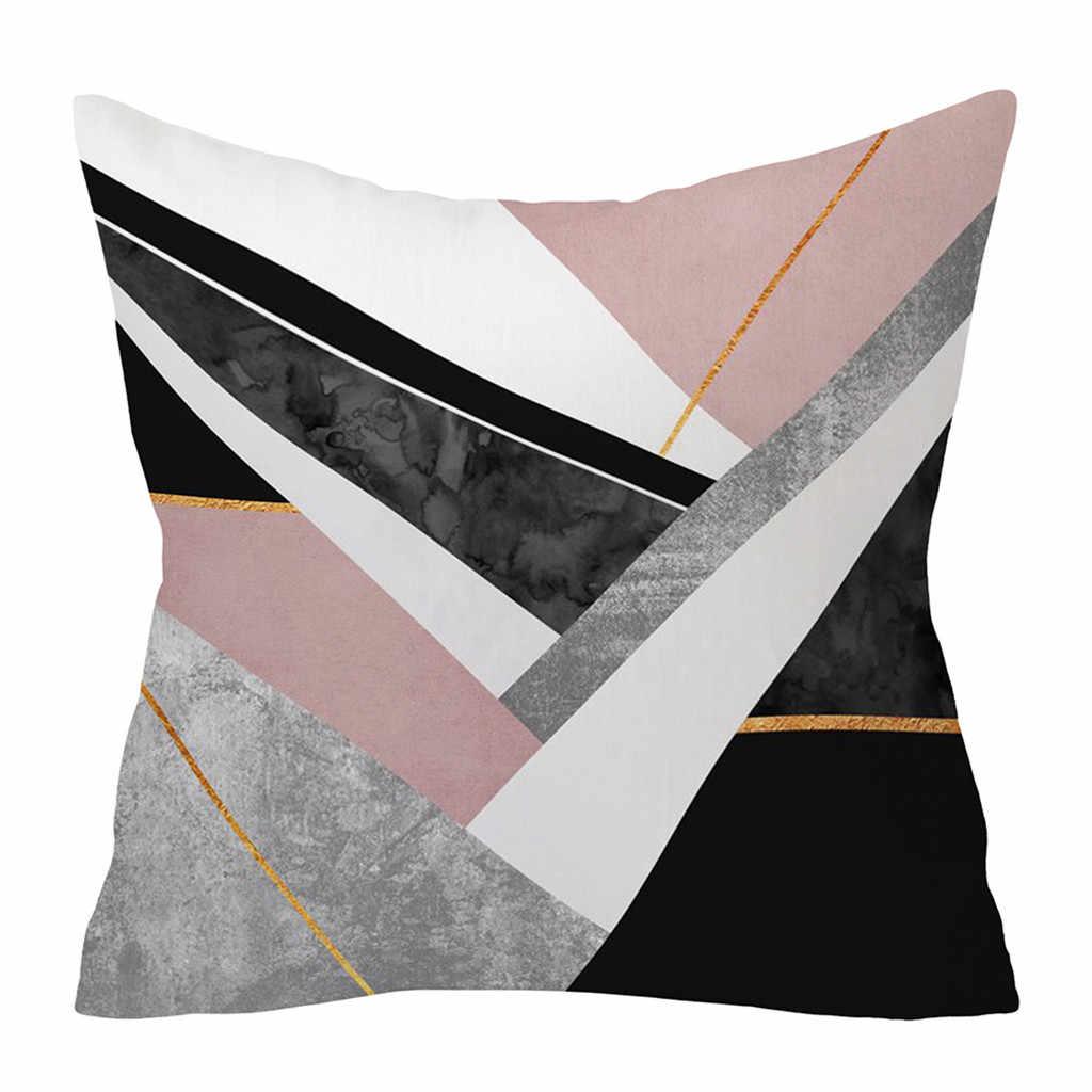 Nowy geometryczny poszewka Na poduszkę z nadrukiem okładka kwadratowa 45cm * 45cm poszewka poliestrowa Home dekoracyjne Poszewki Na Poduszki @ YL