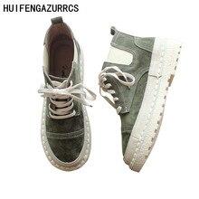 HUIFENGAZURRCS-Women's shoes, ankle leather boots, laces antique shoes, Martin soft bottom pregnant women's shoes.