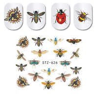1Pcs Sommer Nail art Wasser Aufkleber Transfer Aufkleber Wraps Tattoo Bee Sliders Nagel Design Lack Maniküre Dekorationen JISTZ620-627