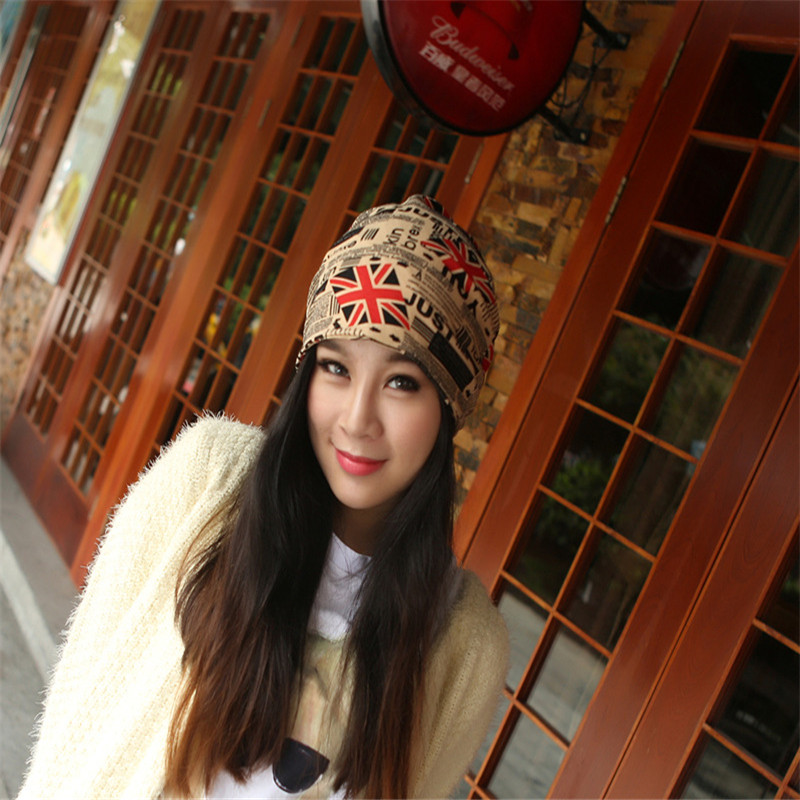Ms. hedging Cap spring and summer flag scarf Cap skullies Hat maternal month X-16 lady s skullies womail delicate pregnant mothers soft velvet cap maternal prevention wind hat w7