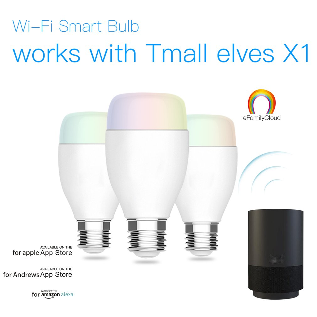 WIFI Smart Bulb E27 Super Bright Wifi APP Remote Control RGBW Timing Light Bulb Smart Phone Remote Control Bulbs