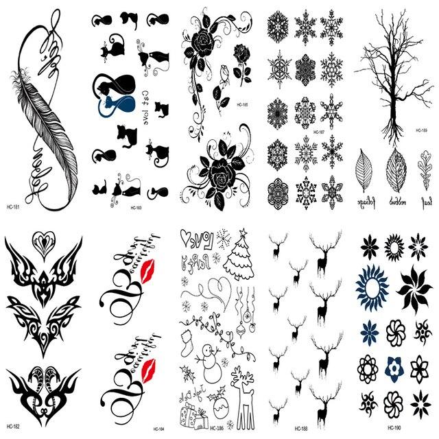 10 Sztuk Tattoo Rekaw Kobiety Sexy Palec Flash Falszywy Tatuaz
