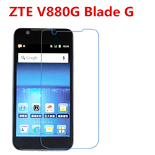 5 Pcs Ultra Thin Clear HD LCD Screen Guard Protector Film With Cleaning Cloth Film For ZTE V880G Blade G. protective clear screen protector guard film for iphone 5 5 pcs