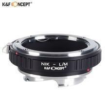 K&F CONCEPT Lens Adapter Ring for Nikon AI Lens to Leica M LM Mount Camera M8 M7 M6 M5 Nikon-L/M