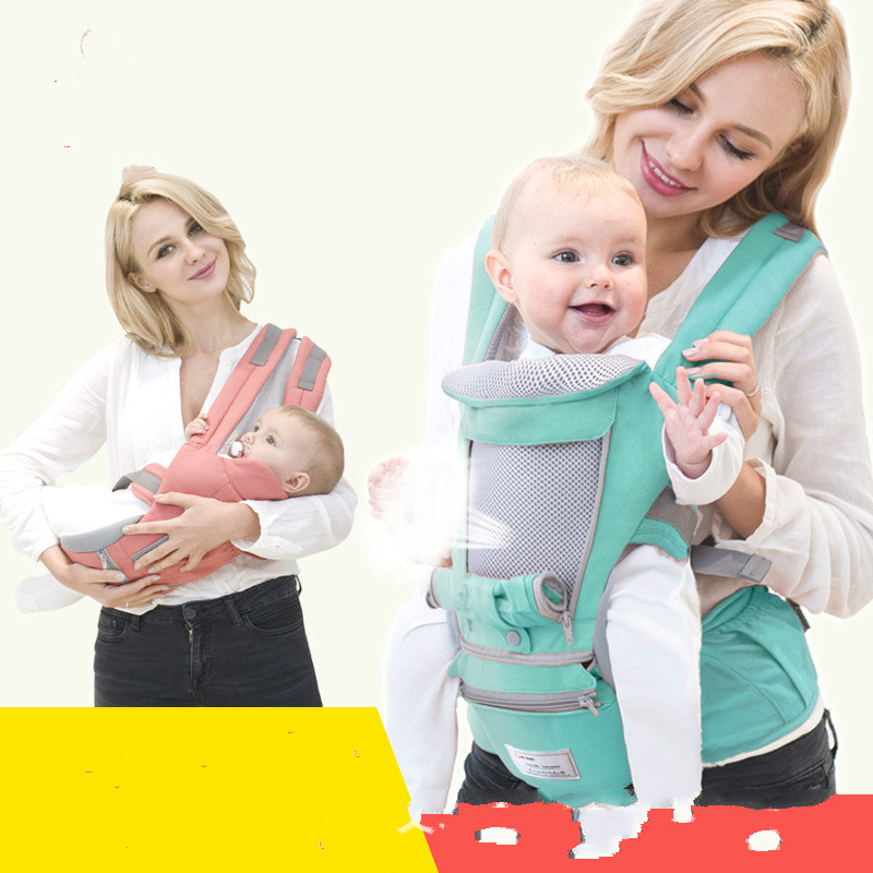 Breathable Ergonomic carrier backpack Portable infant baby carrier Kangaroo hipseat heaps with sucks pad baby sling carrier wrap 2016 hot portable baby carrier re hold infant backpack kangaroo toddler sling mochila portabebe baby suspenders for newborn