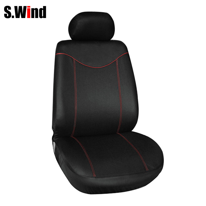 Universal Full Seat Cover Sets Car Seat Covers 2MM Sponge Car Styling Car 11 Pieces Low-back Seat Cover With 5 Headrest Covers