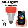 Ми свет blue II Bluetooth лампы 4.0 смартфон приложение дистанционного управления свет 8 Вт E27 RGBW цвет спальная комната лампа умный дом Yeelight