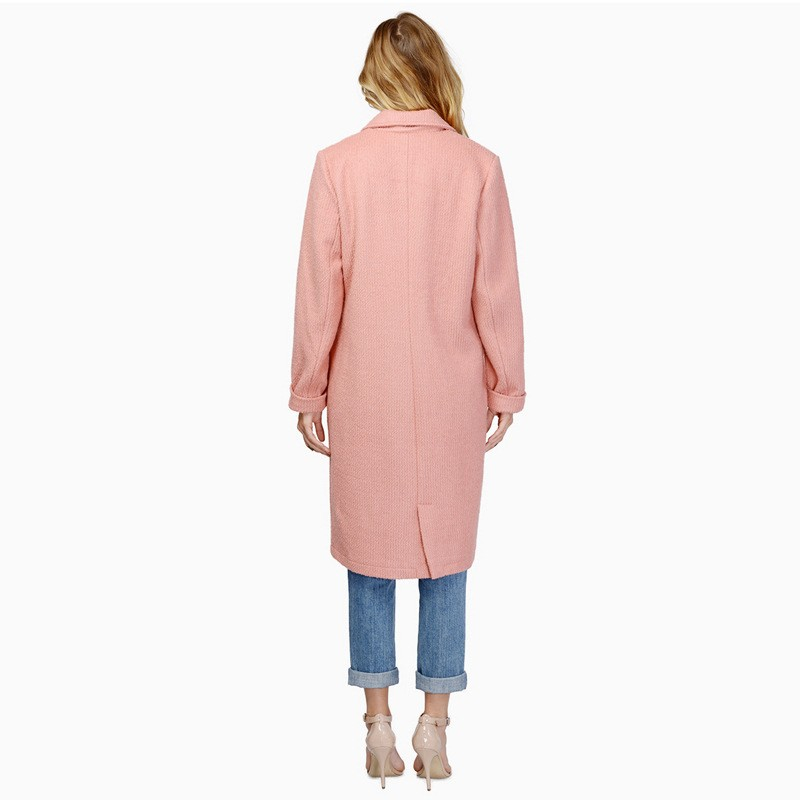 Autumn Winter New Fashion Pink Trench Coat Ladies Office Turn Down Collar Trench Coat For Women Windbreaker Coat Female CT111 (3)
