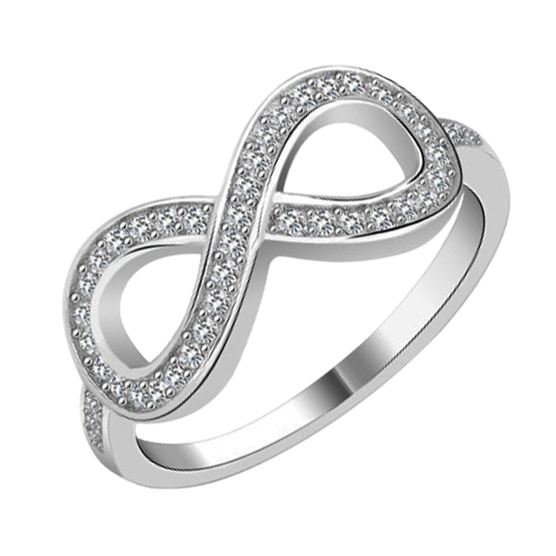 Wholesale Cubic Zirconia Infinity Ring Sterling Silver Cz Infinity