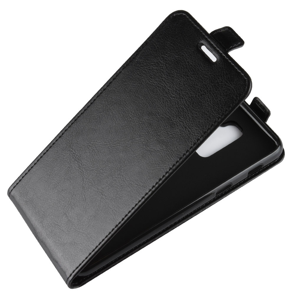 Luxury Vertical Flip Leather Case For Smausng Galaxy A9 A7 2018 A8 A6 Plus Phone Back Cover Wallet case A8s A6s A2 Core A9 star in Flip Cases from Cellphones Telecommunications