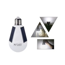 hot deal buy foxanon 7w 12w led lights bulb e27 hanging led solar lamps 85-265v rechargeable for outdoor tent camping hiking fishing lighting