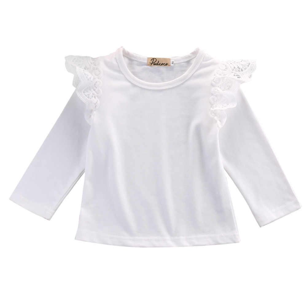 幼児の子供の女トップ長袖服 Tシャツ tシャツかわいいプリンセスガール長袖トップスピンク黒ストリップ