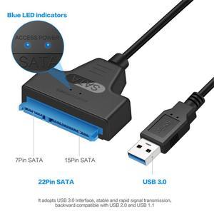 """Image 2 - JZYuan Sata para USB 3.0 Cabo Adaptador USB 3.0 para SATA 22pin SATA III Conversor Para O Portátil de 2.5 """"SATA HDD SSD Disco Rígido"""