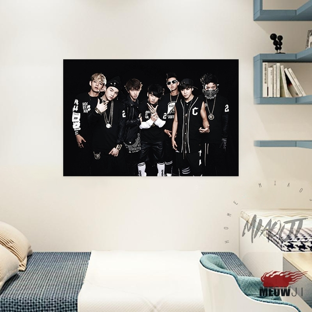 Korean Band KPOP BTS Posters Wall Art Printed Canvas Painting Room ...