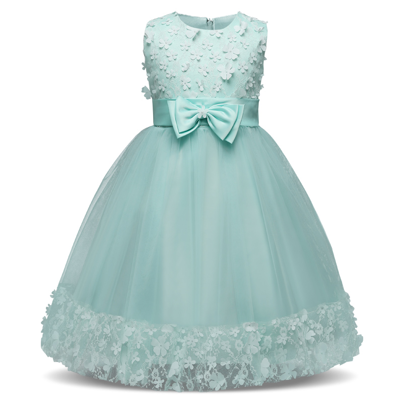 Flower Girl Princess Dress Kids Summer Dresses For Girl Baby Children Party Wedding Formal Evening Prom Gown Teenagers Vestidos pink flower girl dresses for kids lace long sleeves wedding party dress 2017 summer princess prom gown new children clothes