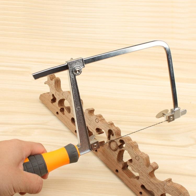 Mini Jig Saw Woodwork Pull Flower Hacksaw U-Wire Hand Saw DIY Wood Plastic PVC Cutting Sawing Handsaw GHS99