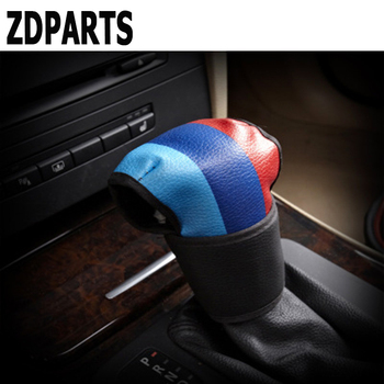 ZDPARTS Car Gear Shift Knob Collars Cover M Three Primary Colors For BMW E46 E39 E90 E60 F30 F10 E34 X5 E53 M 3 4 5 X1 5/6 Speed image