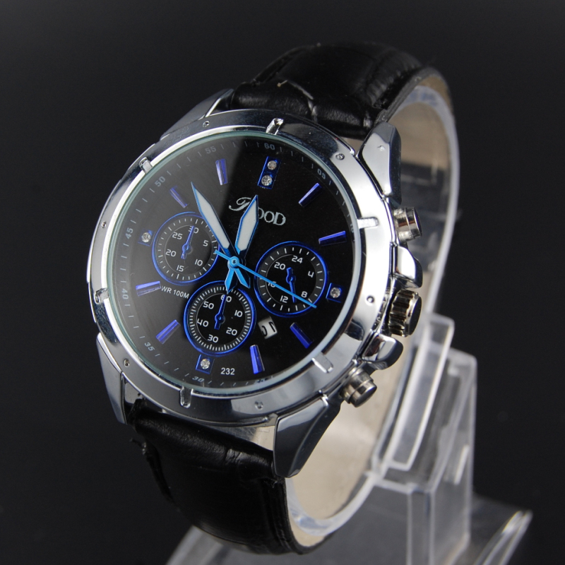 Relogio Masculino Luxury ROOD Brand Genuine Leather Analog Display Date Men s Quartz Watch Sports Watches