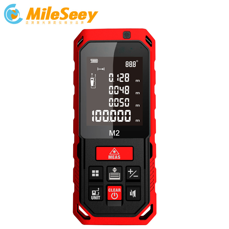 Mileseey Laser Distance Meter New Arrival M2 50m Laser Rangefinder Laser Measure Tools Diastimeter Red
