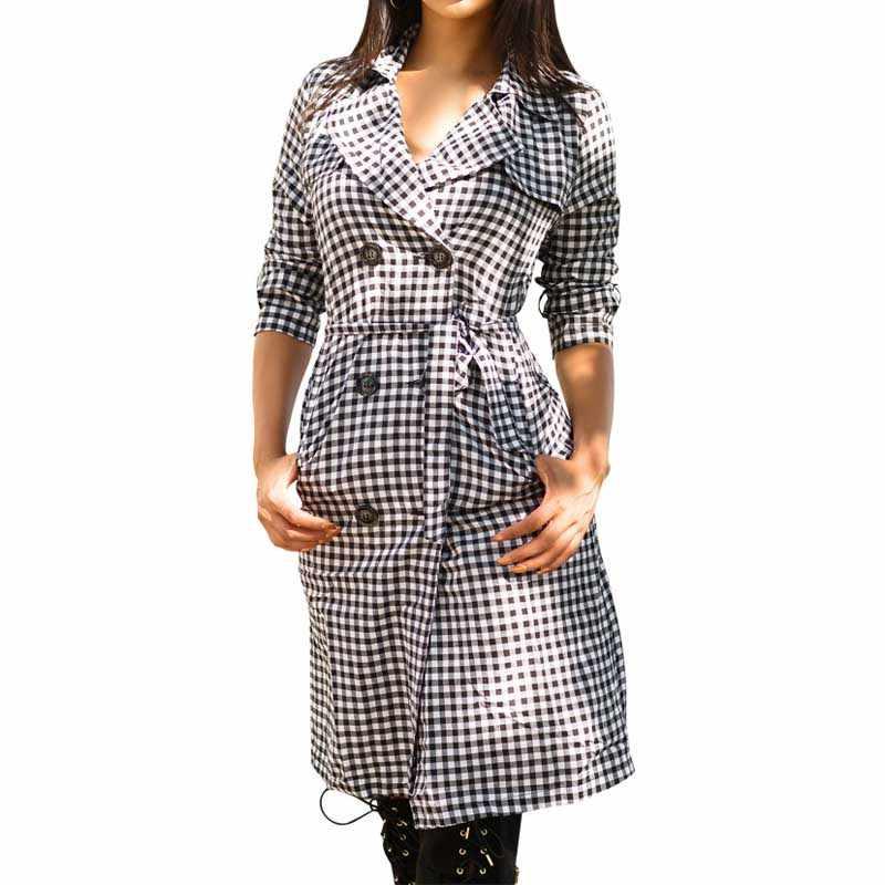 2018 сексуальное весенне-осеннее платье vestidos женское длинный рукав ремень Блузка Цельнокройное платье клетчатое платье с отложным воротником и пуговицами WDC1190
