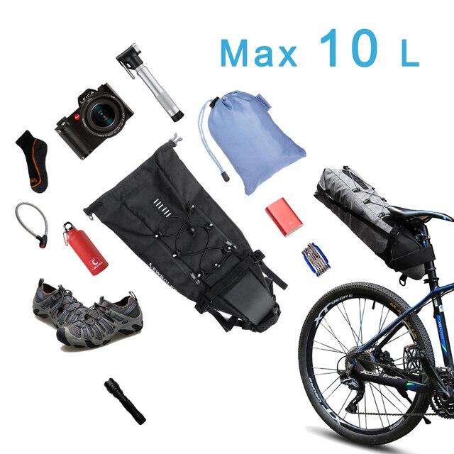 Atacado newboler bicicleta saco de sela pannier ciclo ciclismo mtb estrada da bicicleta saco de assento 8-10l mochila à prova dwaterproof água capa de chuva 3