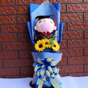 Image 5 - Большая стежка доктор шляпа Ститч Кот Дораэмон Тоторо плюшевый мишка плюшевые куклы игрушки мультяшный цветок букет для студентов школьного возраста детские игрушки