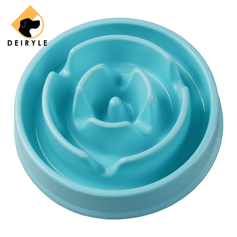 Dog Bowl Food Water Slow Bowl Non-slip Non-toxic Feeder For Aggressive Chewers Large Dogs