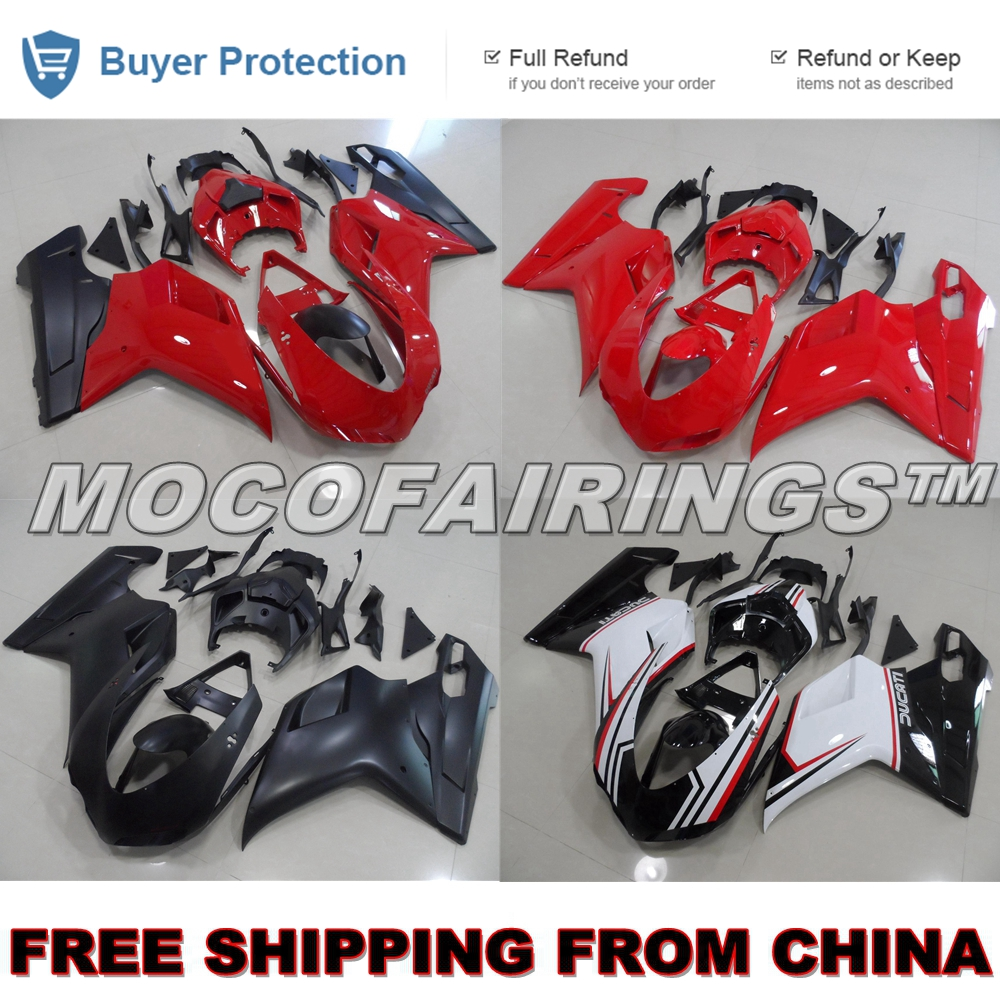 For Ducati 848 1098 1198 S / R / EVO Aftermarket ABS Injection Motorcycle Plastic Fairings Kits Body Work RED / MATTE BLACK 48v 3000w electric bike battery 48v 40ah samsung electric bicycle lithium ion battery with bms charger 48v battery pack 48v 8fun page 2