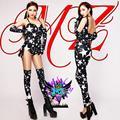 Moda Feminina cantor DJ DS Europa atmosférica preto branco estrela de cinco pontas-partes de alta qualidade discotecas trajes B107
